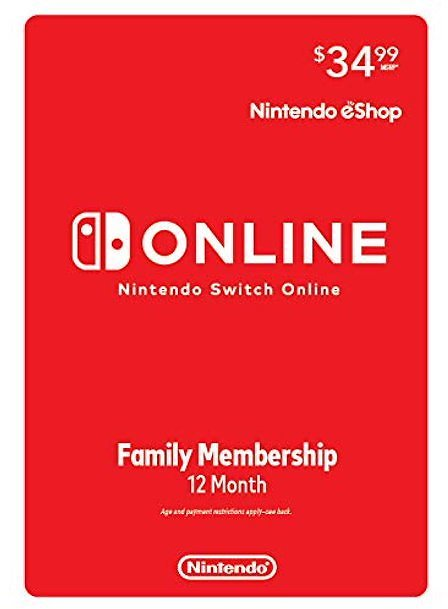 Nintendo Switch Online Family 12 Month Subscription