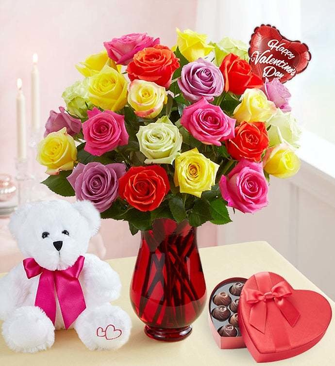 Save Up To 40% Off Valentine's Day Flowers and Gifts At 1-800-Flowers