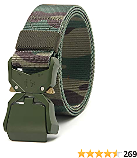 Chaoren 2 Pack Mens Quick Release Tactical Belt 1.5