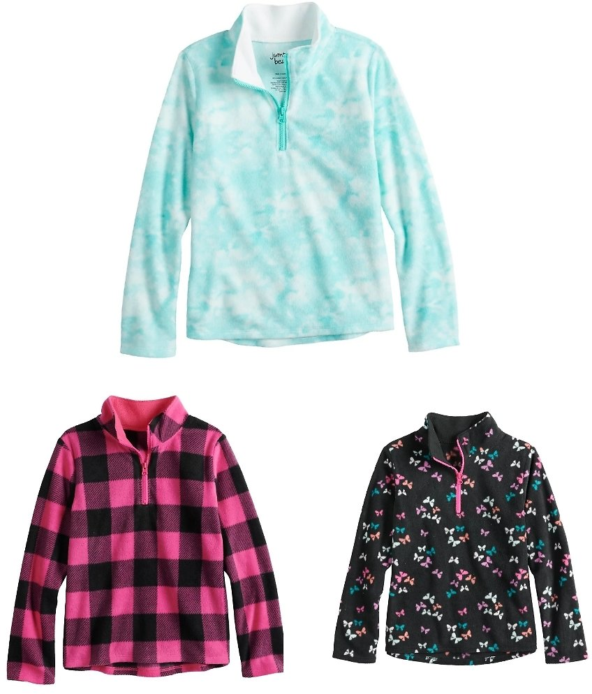 Girls' Jumping Beans Microfleece Pullover (5 Colors)