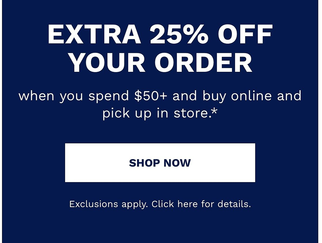 25% Off $50 with Store Pick-Up - Petco