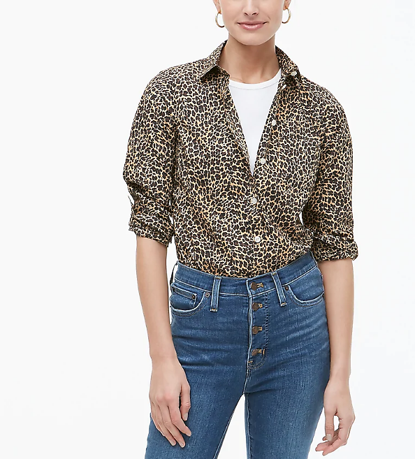 Button-up Leopard Shirt in Signature Fit