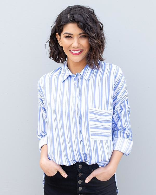 Adelaide Striped Button Down Top | S-L