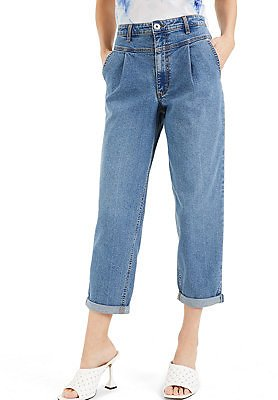INC International Concepts INC Yoke-Front Tapered Jeans, Created for Macy's & Reviews - Jeans - Women