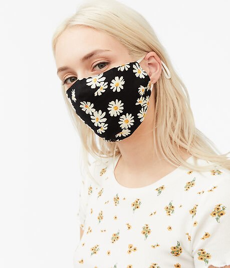Daisy & Solid Mask 2-Pack