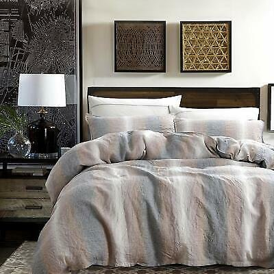 3 Pieces Soft Duvet Cover Set 100% Stone Washed French Linen Durable Breathable