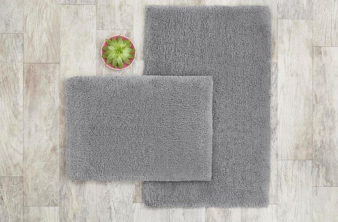 StyleWell White 25 In. X 40 In. Non-Skid Cotton Bath Rug (Set of 2)-HMT432_R_White