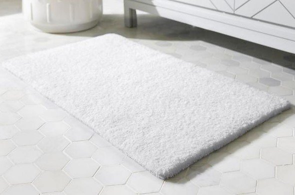 Home Decorators Collection White 17 In. X 24 In. Cotton Reversible Bath Rug (Set of 2)-HMT437_White