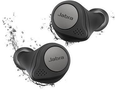 Jabra Elite Active 75t Titanium Black Voice Assistant Enabled True Wireless Sports Earbuds with Charging Case