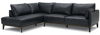 Furniture Jollene Leather 2-Pc. Sectional with Chaise, Created for Macy's & Reviews - Furniture