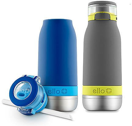 Ello Emma Stainless Steel Water Bottle, 2 Pack (Assorted Colors) - Sam's Club