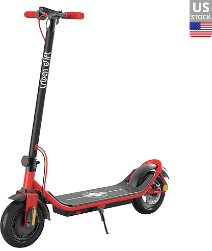 Urban Drift S006 10 Inch Electric Scooter 10Ah Aluminium Alloy Body 350W Motor Rear Disk Brake 25km/h - Red