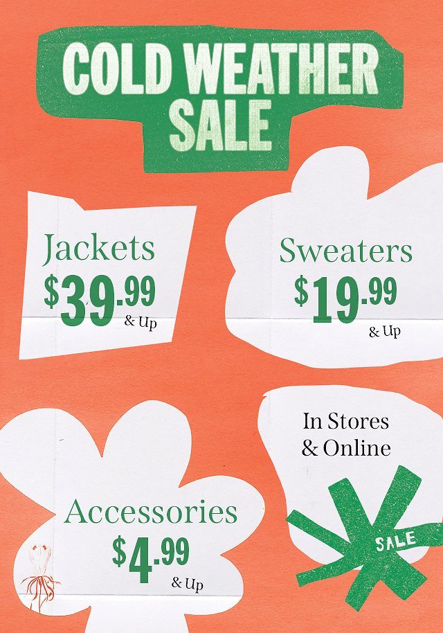 Cold Weather Sale - Urban Outfitters