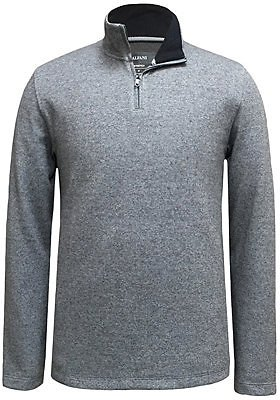 Alfani Mens Mock-Neck Quarter-Zip Sweater