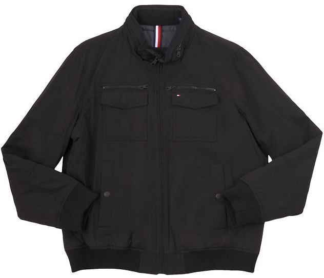 Tommy Hilfiger Performance Water and Wind Resistant Bomber Mens