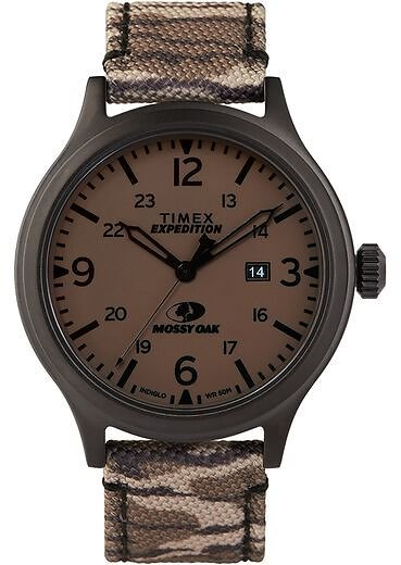 Timex Expedition Scout 43mm Fabric Strap Watch with Mossy Oak® Original Bottomland Camo - Timex US