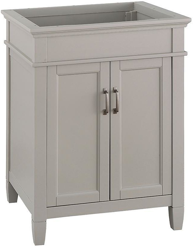 Home Decorators Collection Ashburn 24 In. W X 21.63 In. D Vanity Cabinet in Grey-ASGRA2421