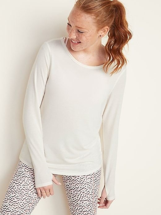 Relaxed Cutout-Back French Terry Top for Women | Old Navy