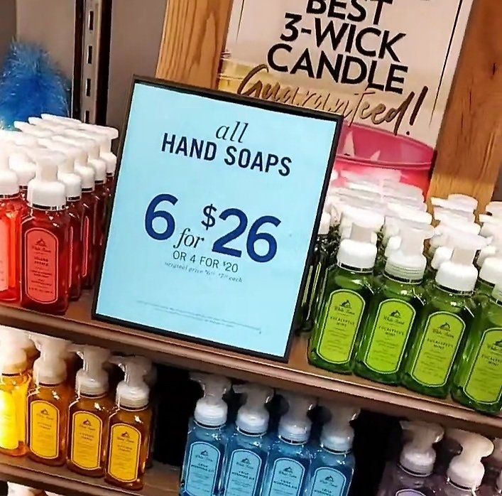 6 for $26 All Hand Soaps (In-Store)
