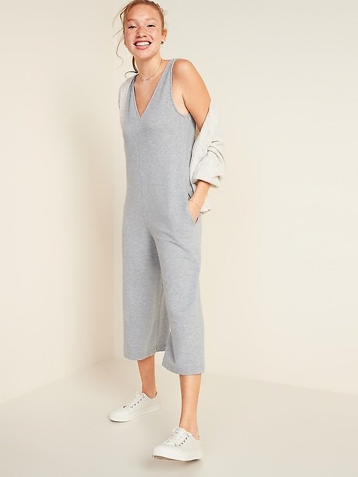Deal of The Day! Sleeveless V-Neck Wide-Leg Jumpsuit for Women | Old Navy