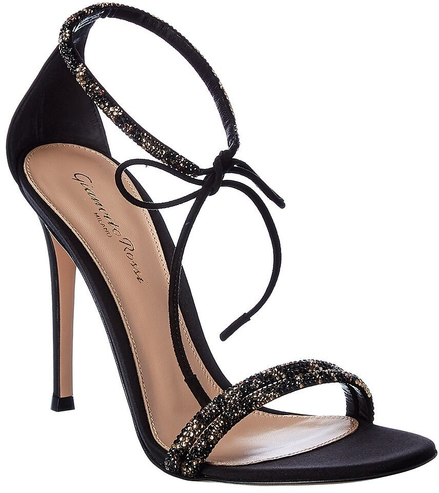 Gianvito Rossi Ankle Strap Leather Sandal