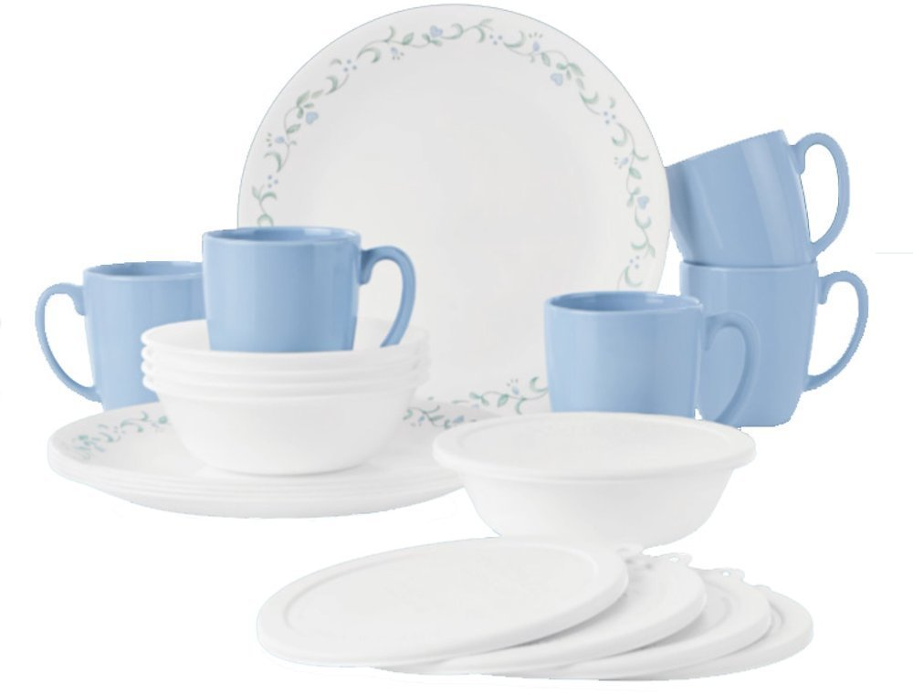 Corelle Country Cottage 20-piece Dinnerware Set, Service for 5 (available in 3 colors)