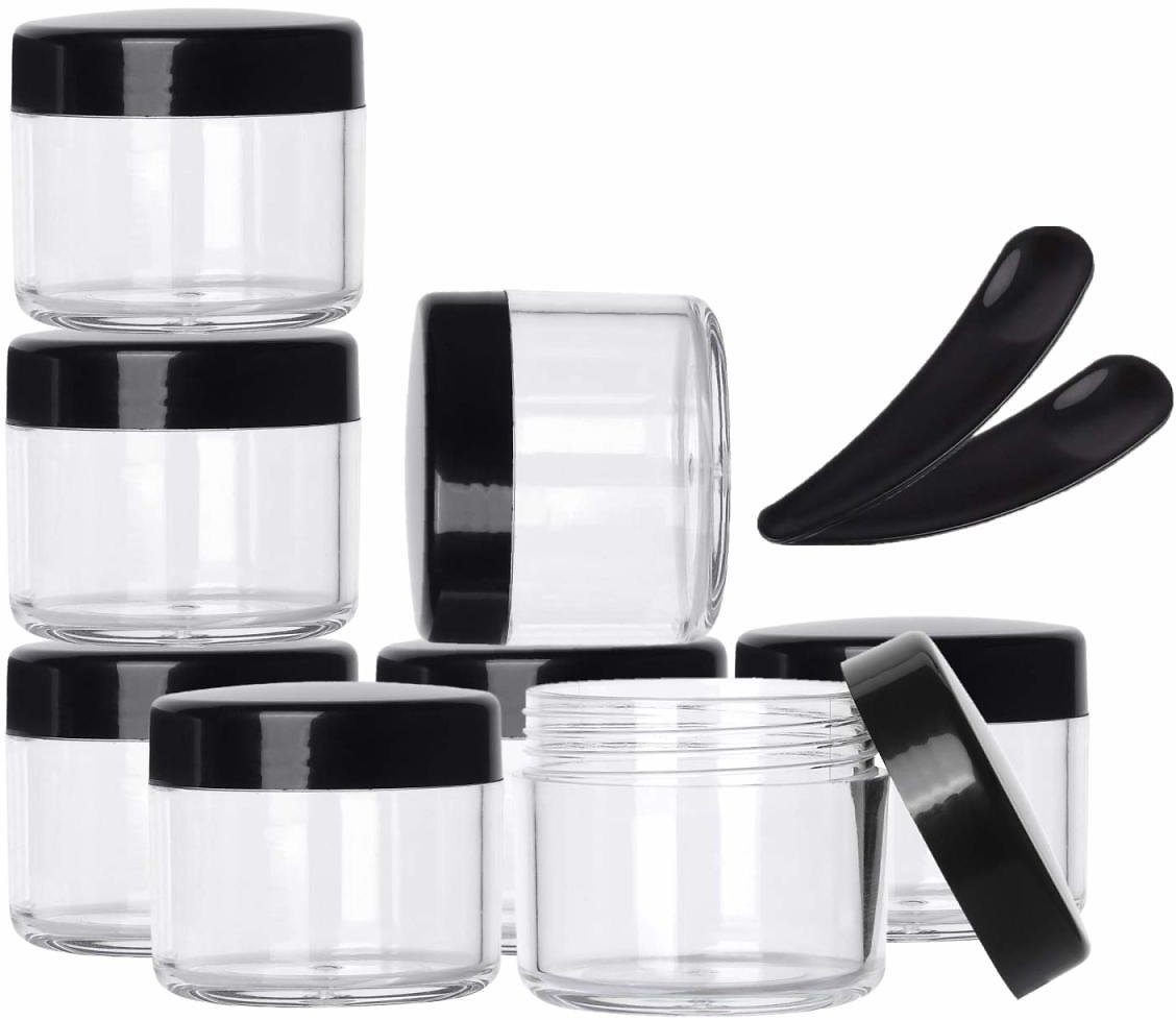 100-Pack of TSA-Approved Leakproof Jars with Lids Plus 10 Spoons