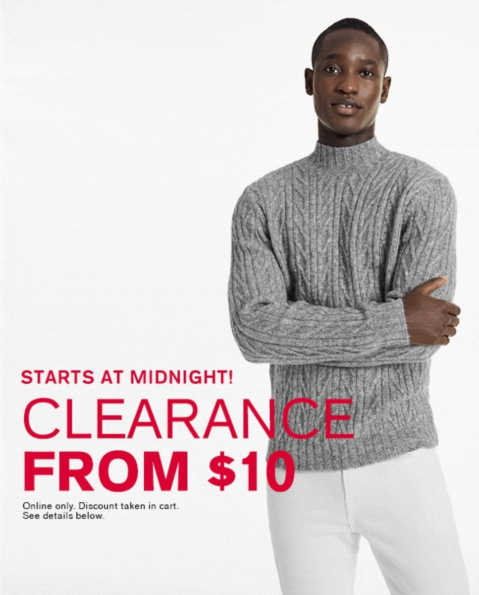 Clearance Sale Starting At $10 - Express