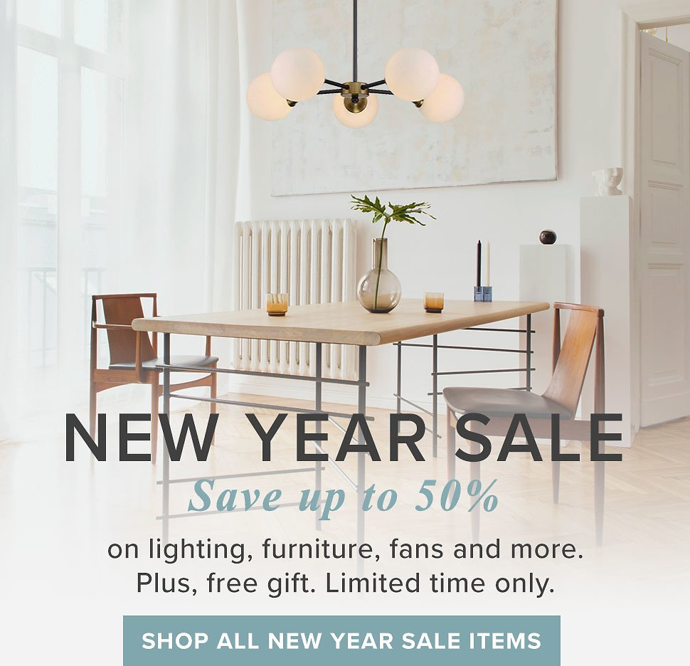 50% Off Modern Lighting Solutions, Furniture, Fans and More.