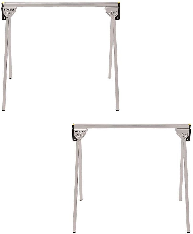 Stanley 29 In. Folding Metal Sawhorse (2-Pack)-STST11154W11154