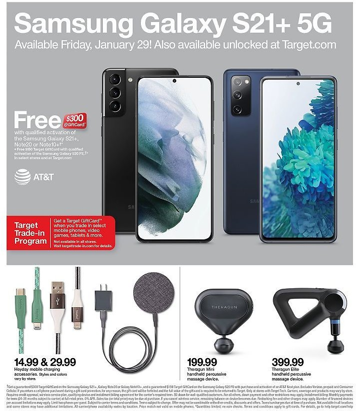 Free $300 GiftCard W/Qualified Activation of The Samsung Galaxy S21+, Note20 or Note10+†*(1/24)
