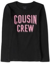 Girls Long Sleeve Cousin Crew Graphic Tee