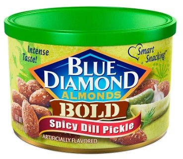 Blue Diamond Almonds Spicy Dill Pickle 6oz Can
