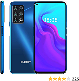 CUBOT X30 Unlocked Smartphone (8GB+128GB) with 6.4-Inch FHD+ Display,Five Al Cameras, Android 10, 4200mAh Battery, 4G Dual SIM Phone (Blue)