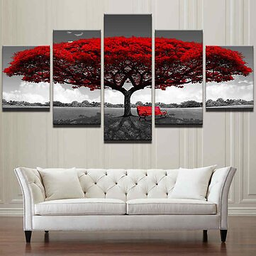 3 4 5 Panel Modern Abstract Home Hotel Wall Decor Art Gift Spray Canvas Paintings