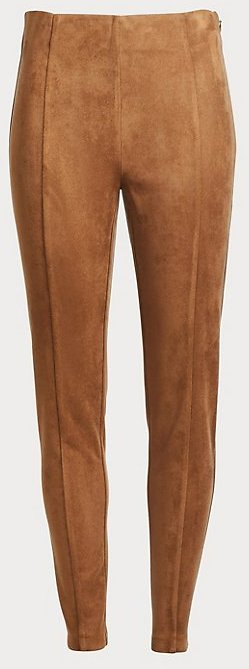Petite Faux Suede Side Zip Leggings | LOFT