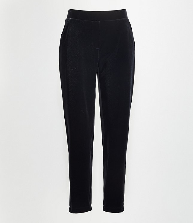 Tall Velvet Tapered Pull On Pants | LOFT