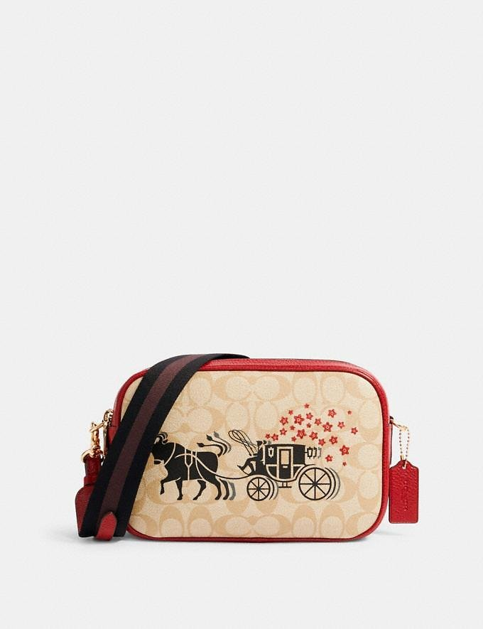 Lunar New Year Jes Crossbody in Signature Canvas with Ox and Carriage