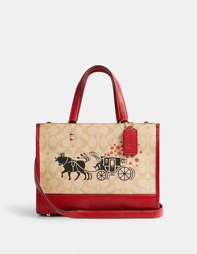 Lunar New Year Dempsey Carryall in Signature Canvas with Ox and Carriage