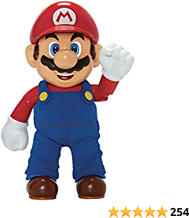 SUPER MARIO It's-A Me, Mario! Collectible Action Figure, Talking Posable Mario Figure, 30+ Phrases and Game Sounds – 12 Inches Tall!