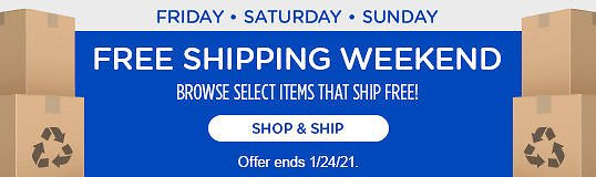 Happy Free Shipping Weekend - Sears