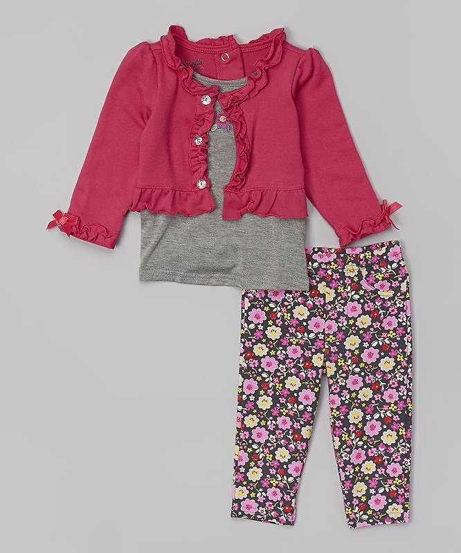 Pink Ruffle Layered Tunic & Leggings - Infant