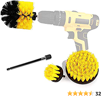 (50% OFF) Drill Brush Power Scrubber Brush Cleaning Set