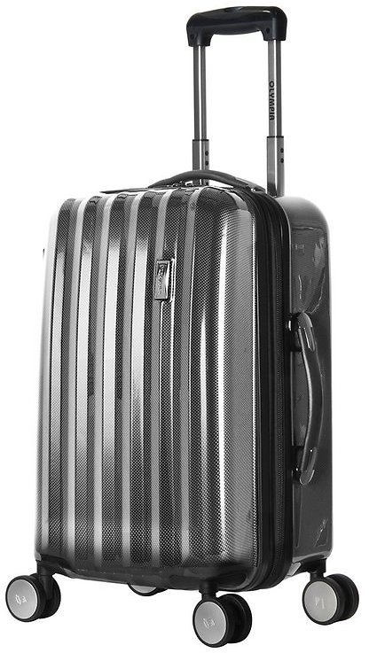 Black Titan 21'' Expandable Rolling Carry-On Travel Case