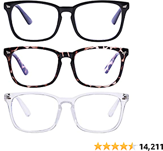 Up to 50% Off 3-Pack Blue Light Blocking Glasses Anti Eyestrain Computer Gaming Glasses