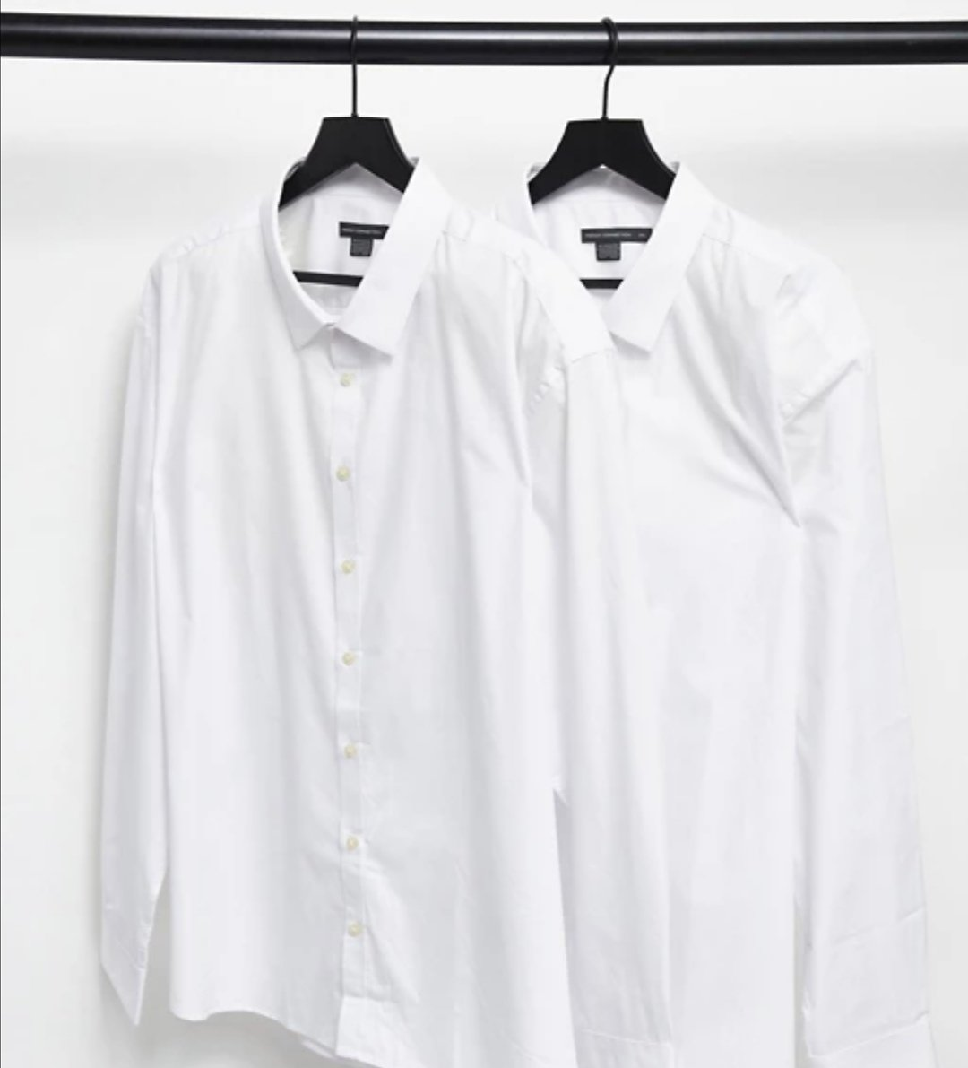 2 Pack French Connection Plus Slim Fit Formal Shirt