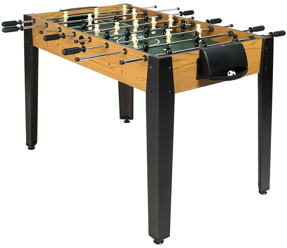 Gymax 48-in Competition Sized Wooden Soccer Foosball Table