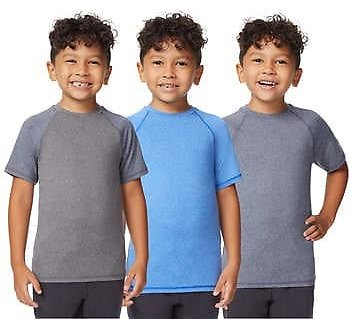 32 Degrees Cool Youth 3-pack Active Tee (Blue/Green)