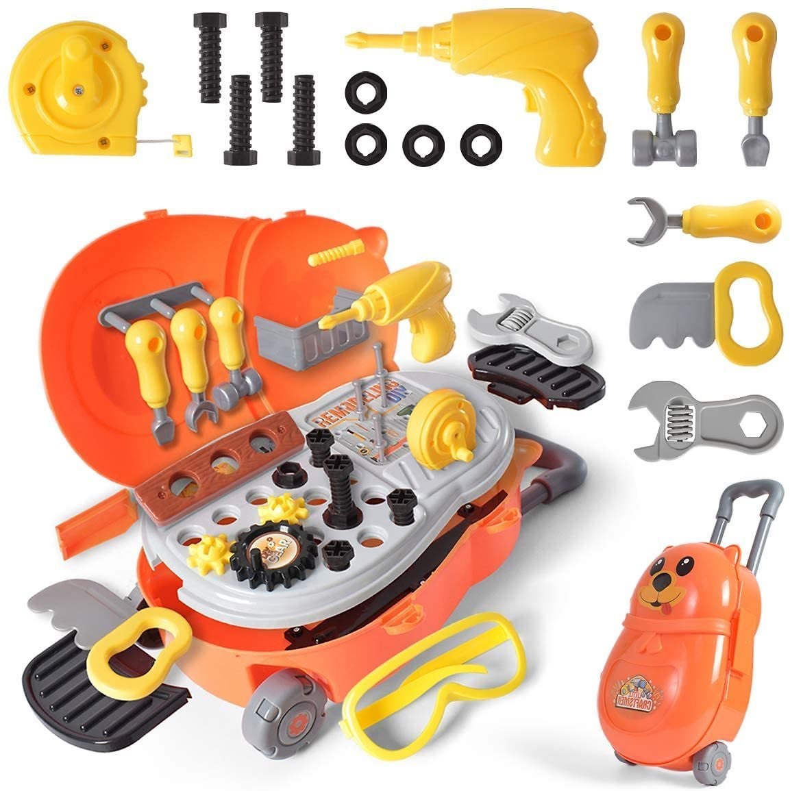 26 Pieces Kids Toy Tool Set with a Suitcase for $18.39 + Free Shipping with Prime