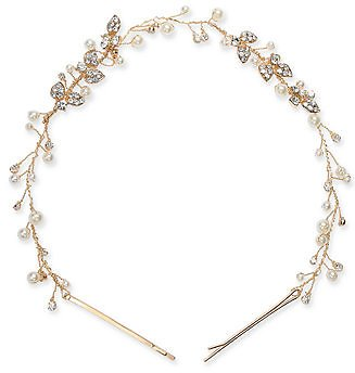 INC International Concepts INC Gold-Tone Crystal & Imitation Pearl Headband, Created for Macy's & Reviews - Fashion Jewelry - Jewelry & Watches